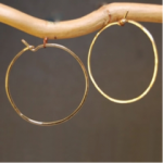 Calico Juno Hammered Hoop Earring