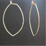 Calico Juno Leaf Hoop Earring