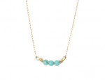 Goldenthread Bar Turquoise Necklace