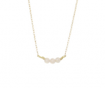 Goldenthread Blush Pink Bar Necklace