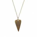 Goldenthread Antiqued Arrowhead Heart Necklace