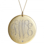 Goldenthread Large Disc Initial with Diamond