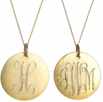 Goldenthread Antiqued Medium Gold Disc Initial