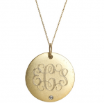 Goldenthread Medium Initial Disc with Diamond