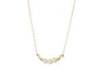 Goldenthread Pearl Bar Necklace