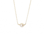 Goldenthread Single Pearl Necklace