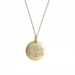 Goldenthread Antiqued Small Gold Disc Initial