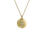 Goldenthread Small Initial Disc with Diamond