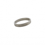Goldenthread Sterling Silver Personalized Band Ring
