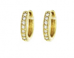 Jude Frances Small Diamond Huggie Hoop Earrings