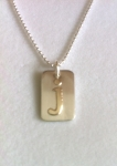 Jemma Dog Tag Initial Necklace