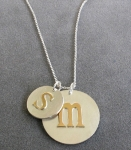Jemma Mom and Baby Initial Necklace