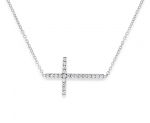 KC Designs Sideways Diamond Cross Necklace