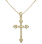 KC Designs Regal Diamond Gold Cross Necklace