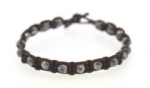 Rebecca Lankford Leather Colored Bead Bracelet